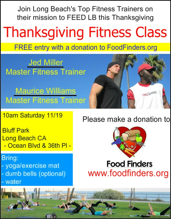 Thanksgiving Donations Fitness Class with Jed Miller and Maurice Williams
